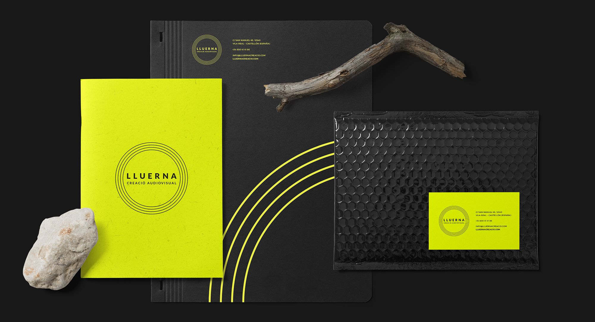 Lluerna corporate stationery - Eclectick Studio