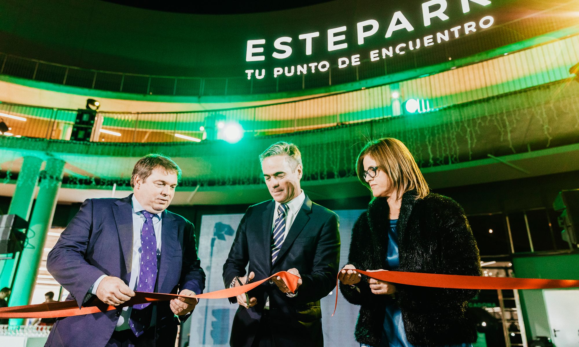 Image of the opening of the shopping center Estepark